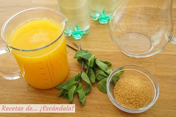 Ingredientes naranjada casera