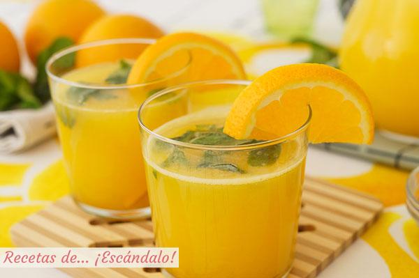 Receta de naranjada casera, el refresco mas natural y sencillo