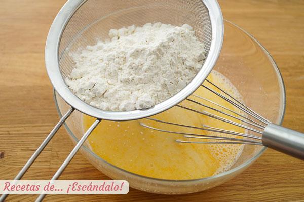 Mezcla de huevos, leche, azucar y harina