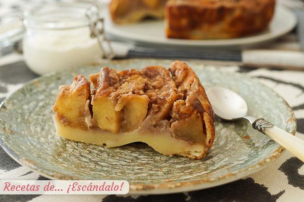 Receta de tarta de manzana casera, facil, rapida y muy rica