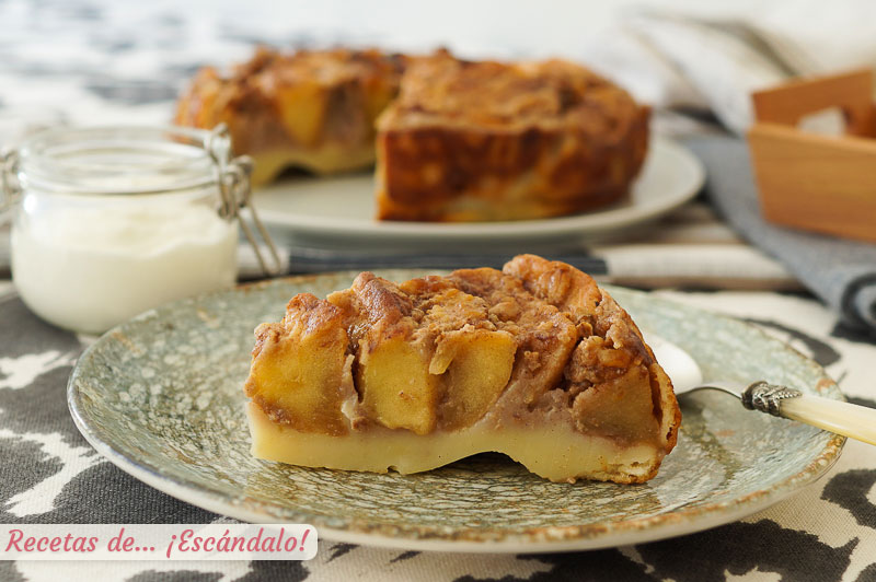 Tarta de manzana casera, facil, rapida y muy rica