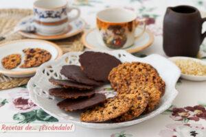Galletas Moscovitas de almendra y chocolate caseras