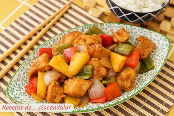 Kaip pagaminti kinišką saldžiarūgštį vištieną su ananasais, labai skanu.jpg