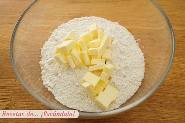 Harina y mantequilla para masa tequenos