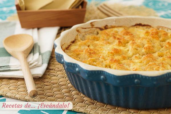 Receta de mac and cheese o macarrones con queso, un plato de pasta irresistible