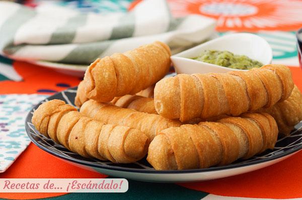 Receta de tequenos venezolanos de queso con masa casera y crujiente