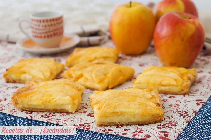 Tarta de manzana en Thermomix con hojaldre y crema pastelera