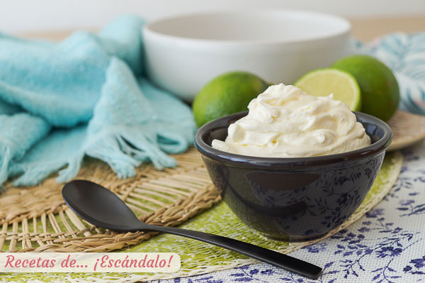 Receta de crema agria, sour cream o nata agria casera, rapida y facil