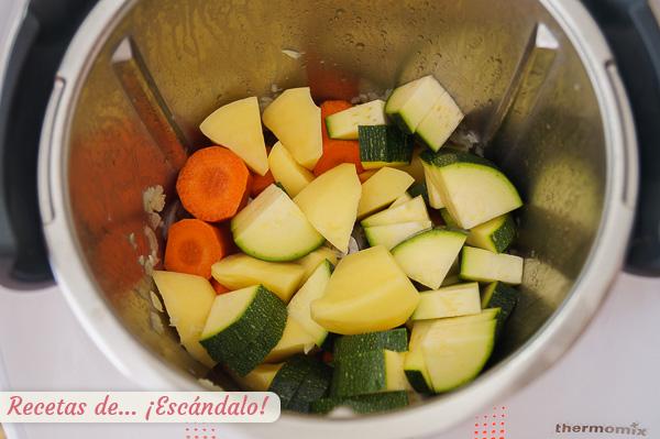 Verduras para lentejas estofadas